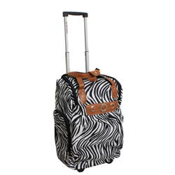 304e8222dd3d Runway Lady s Lightweight Zebra Carry-on Rolling Luggage Bag
