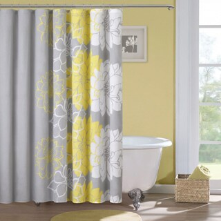 Madison Park Brianna Sateen Printed Shower Curtain