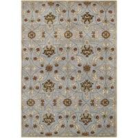 Alliyah Handmade Pearl Blue New Zealand Blend Wool Rug (9' x 12')