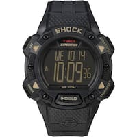 Timex Men's T49896 Expedition Rugged Shock Digital CAT All Black Watch