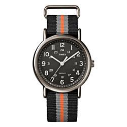 Timex T2N892KW Unisex Weekender Slip Thru Stripe Nylon Strap Watch