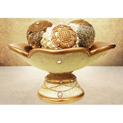 American Atelier Decorative Four-Piece Orb Set W/ Bowl