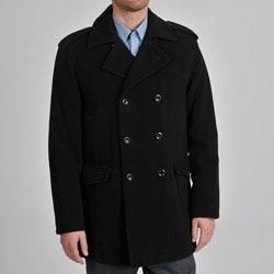 Alfani Men's Black Wool/ Cashmere Double-breasted Coat