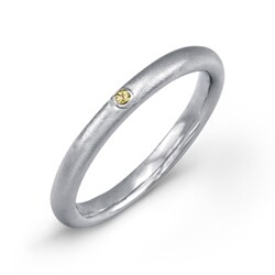Sterling Silver Yellow Sapphire Accent Band