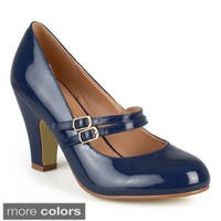 Journee Collection Women's Wendy-09 Faux Leather Mary Jane Pumps