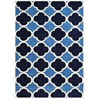 Alliyah Handmade Azure Blue New Zealand Blend Wool Rug (5' x 8') - 5' x 8'