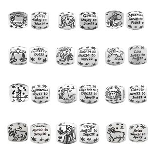 De Buman Sterling Silver Zodiac Sign Constellation Charm Bead (More options available)