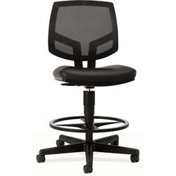 HON Volt Black Leather Mesh Task Stool