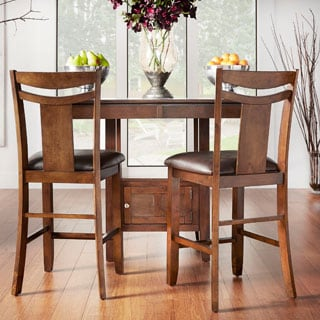 TRIBECCA HOME Marsden Dark Brown 24-inch Counter Height Stool (Set of 2)