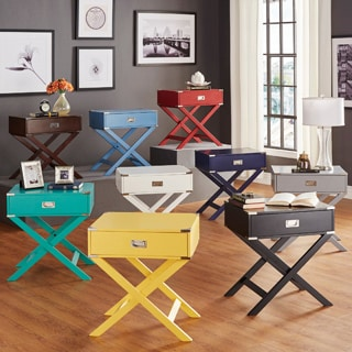 INSPIRE Q Kenton x Base Wood Accent Campaign Table (As Is Item)