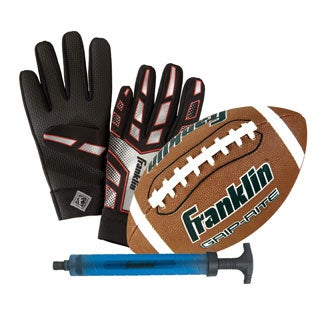 Grip-Rite Football with Receiver Gloves and Pump
