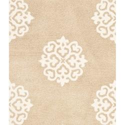 Safavieh Handmade Soho Medallion Beige N. Z. Wool Rug (2' x 3')