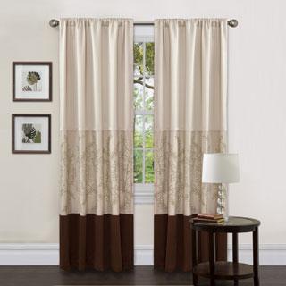Lush Decor Hester Green Single 84-inch Curtain Panel