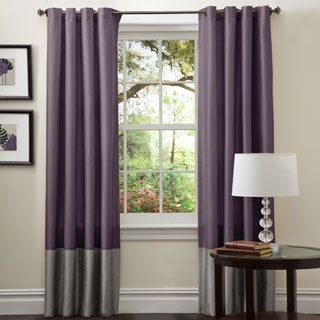 Lush Decor Prima Grey/ Purple 84-inch Curtain Panel Pair