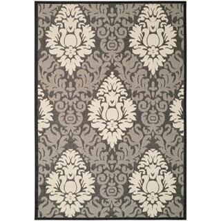 Safavieh St. Barts Damask Black/ Sand Indoor/ Outdoor Rug (5 options available)