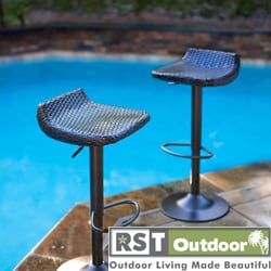 RST Brands Woven Wicker Barstools (Set of 2)