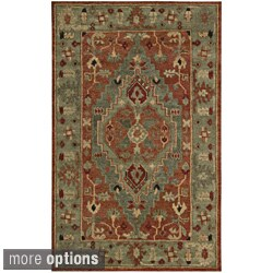 Nourison Hand-Knotted Tahoe Rust Wool Rug