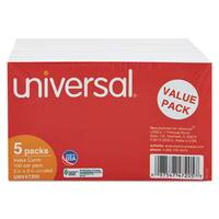 Universal Unruled 3 x 5 White Index Cards (Pack of 5)