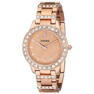 Fossil Women's ES3020 'Jesse' Rosegold Tone Stainless Steel Watch