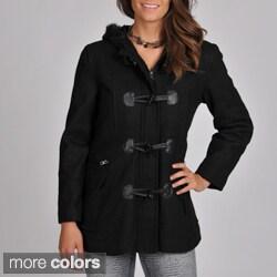 Excelled Women's Wool Melton Blend Toggle Short Jacket