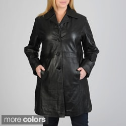 Excelled Women's Plus Size Leather Walker