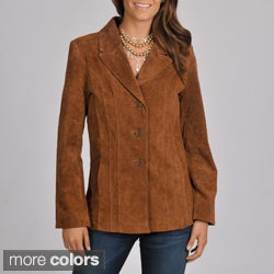 Excelled Women's Washable Suede Jacket