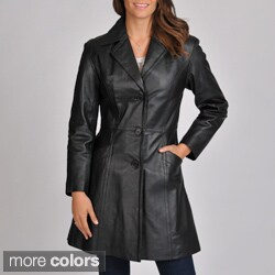 Excelled Women's Leather Walker Coat