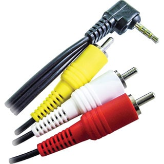 Calrad Electronics 3.5mm 4 Conductor Right Angle to 3 RCA (Camcorder)