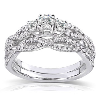 Annello 14k Gold 1/2ct TDW Diamond Braided Bridal Ring Set|https://ak1.ostkcdn.com/images/products/P14941747m.jpg?_ostk_perf_=percv&impolicy=medium