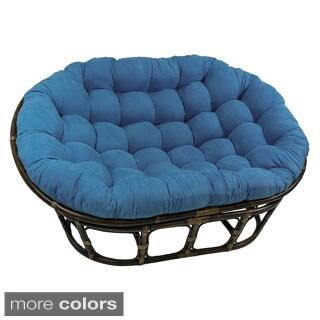 International Caravan Bali Double Papasan Chair with Microsuede Cushion