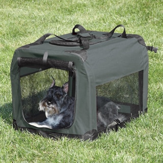 Guardian Gear Small Soft Pet Crate Grey