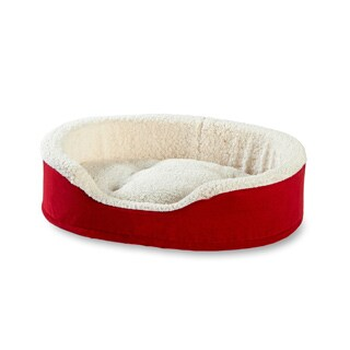 Oliver Foam Red Dog Bed