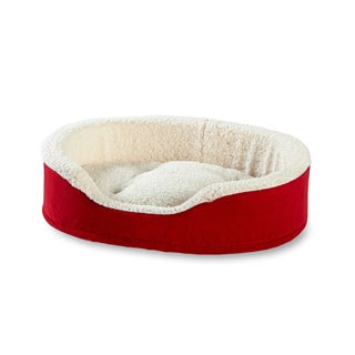 Happy Hounds Oliver Foam Red Dog Bed