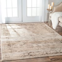 "The Gray Barn Blackjack Persian Vintage Viscose Ivory Area Rug - 7'10"" x 11'"
