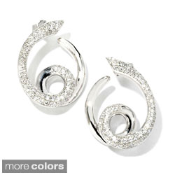 Sonia Bitton 18k Gold 1 1/5ct TDW Designer Diamond Swirl Earrings