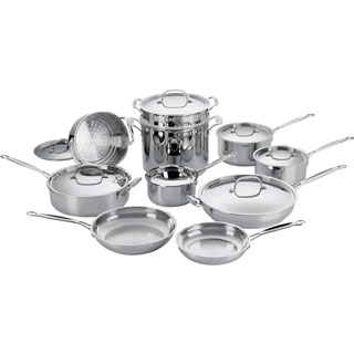 Cuisinart Stainless Steel 17-piece Cookware Set