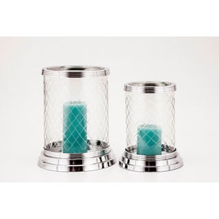 Elizabeth Diamond Cut Glass Huricane Candle Holder
