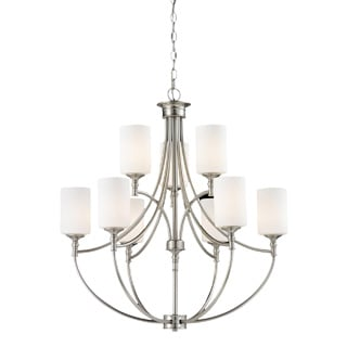 Cannondale 9-light Brushed Nickel Chandelier