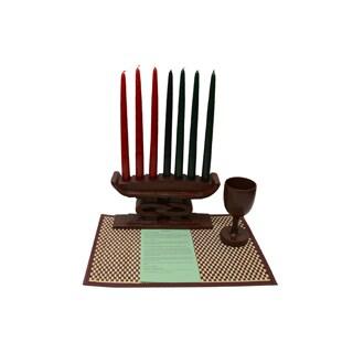 Hand-crafted Unity Kwanzaa Set (Ghana)