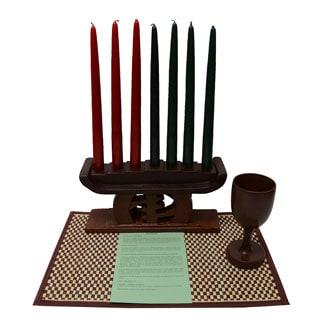 Hand-crafted Gye Nyame Kwanzaa Set (Ghana)