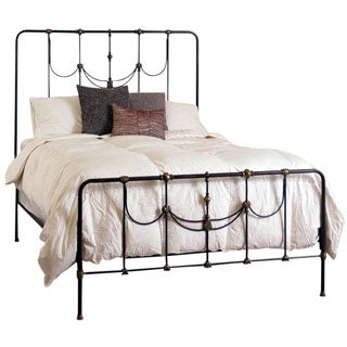 Iron and Brass Queen Scrolled Metal Bed
