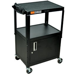Offex Height Adjustable Steel AV Utility Cart