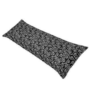 Sweet JoJo Designs Kaylee Swirl Print Full Length Double Zippered Body Pillow Case Cover