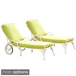 Home Styles Biscayne Chaise Lounge Chairs with Cushion