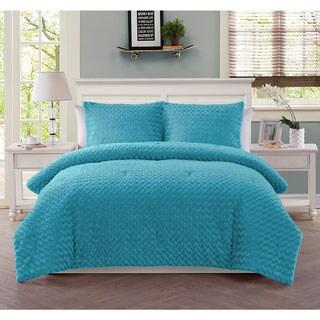 VCNY Rose Fur 3-piece Comforter Set
