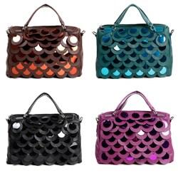 Nicole Lee 'Emery' Sequin Scalloped Satchel Handbag