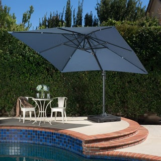 Christopher Knight Home Outdoor Geneva 9'8-foot Canopy Umbrella with Stand
