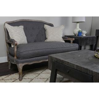 Eddie Tufted Grey Settee by Kosas Home