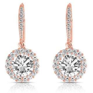 Collette Z Rose over Silver Cubic Zirconia Round Drop Earrings|https://ak1.ostkcdn.com/images/products/P15049390s.jpg?_ostk_perf_=percv&impolicy=medium