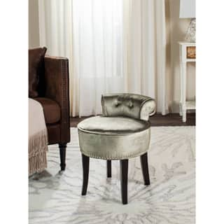 Safavieh Georgia Mink Brown Vanity Stool Free Shipping